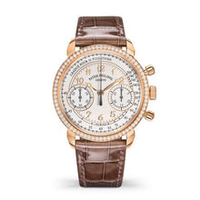 Load image into Gallery viewer, Brand New 100% Genuine PATEK PHILIPPE Complications Chronograph Rose Gold Silver Watch