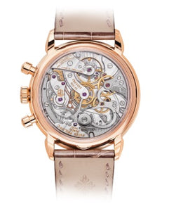 Brand New 100% Genuine PATEK PHILIPPE Complications Chronograph Rose Gold Silver Watch