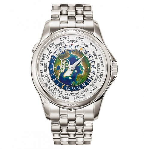Patek Philippe Complications World Time 5131/1 Platinum Earth 5131/1P-001 Watch