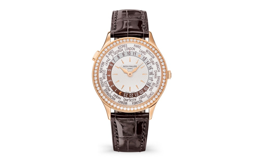 Brand New 100% Genuine PATEK PHILIPPE World Time Rose Gold Ivory 7130R-013 Watch