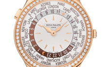 Load image into Gallery viewer, Brand New 100% Genuine PATEK PHILIPPE World Time Rose Gold Ivory 7130R-013 Watch