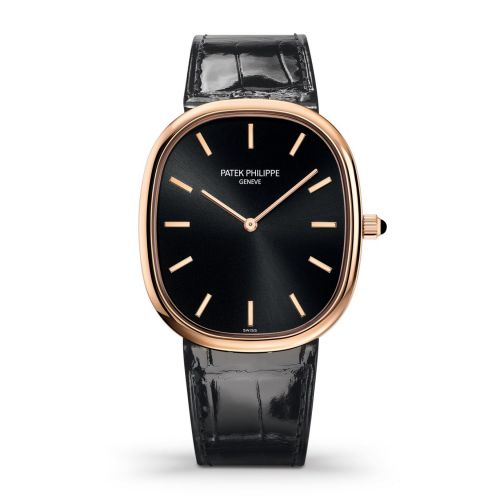 Patek Philippe Golden Ellipse 5738 Rose Gold Black 5738R-001 watch