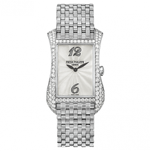 Load image into Gallery viewer, Patek Philippe Gondolo Serata 4972 White Gold Mother of Pearl Bracelet watch