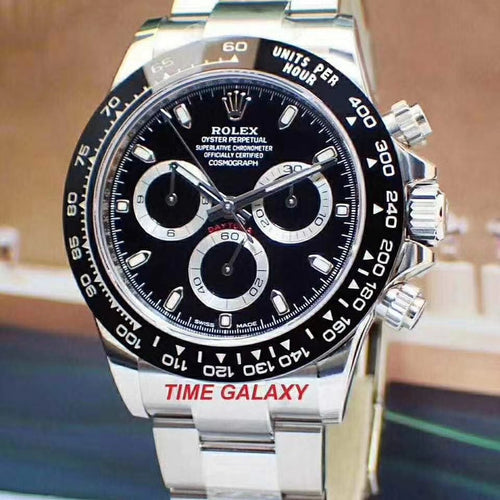 Pre-Owned ROLEX Cosmograph Daytona Steel Cerachrom Black 116500LN