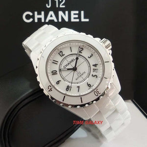 Buy affordable pre-owned Chanel J12 White Ceramic Automatic Lady Watch at Time Galaxy