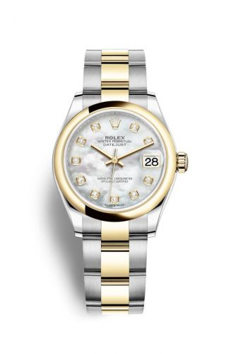 Authentic Rolex Datejust 31 Stainless Steel Yellow Gold Domed MOP Oyster 278243-0027 Watch