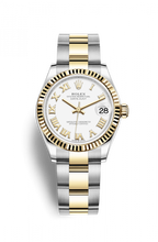 Load image into Gallery viewer, Authentic Rolex Datejust 31 Stainless Steel Yellow Gold Fluted White-Roman Oyster 278273-0001 Watch