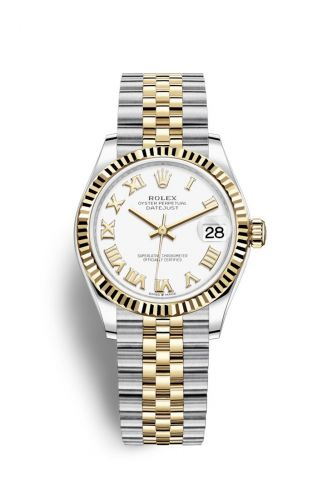 Authentic Rolex Datejust 31 Stainless Steel Yellow Gold Fluted White-Roman Jubilee 278273-0002 Watch