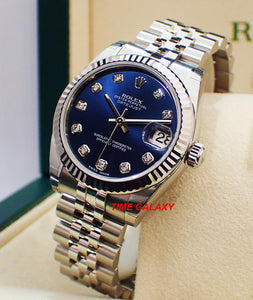 Buy Sell Trade Rolex Datejust 31 Blue Diamond 178274 at Time Galaxy