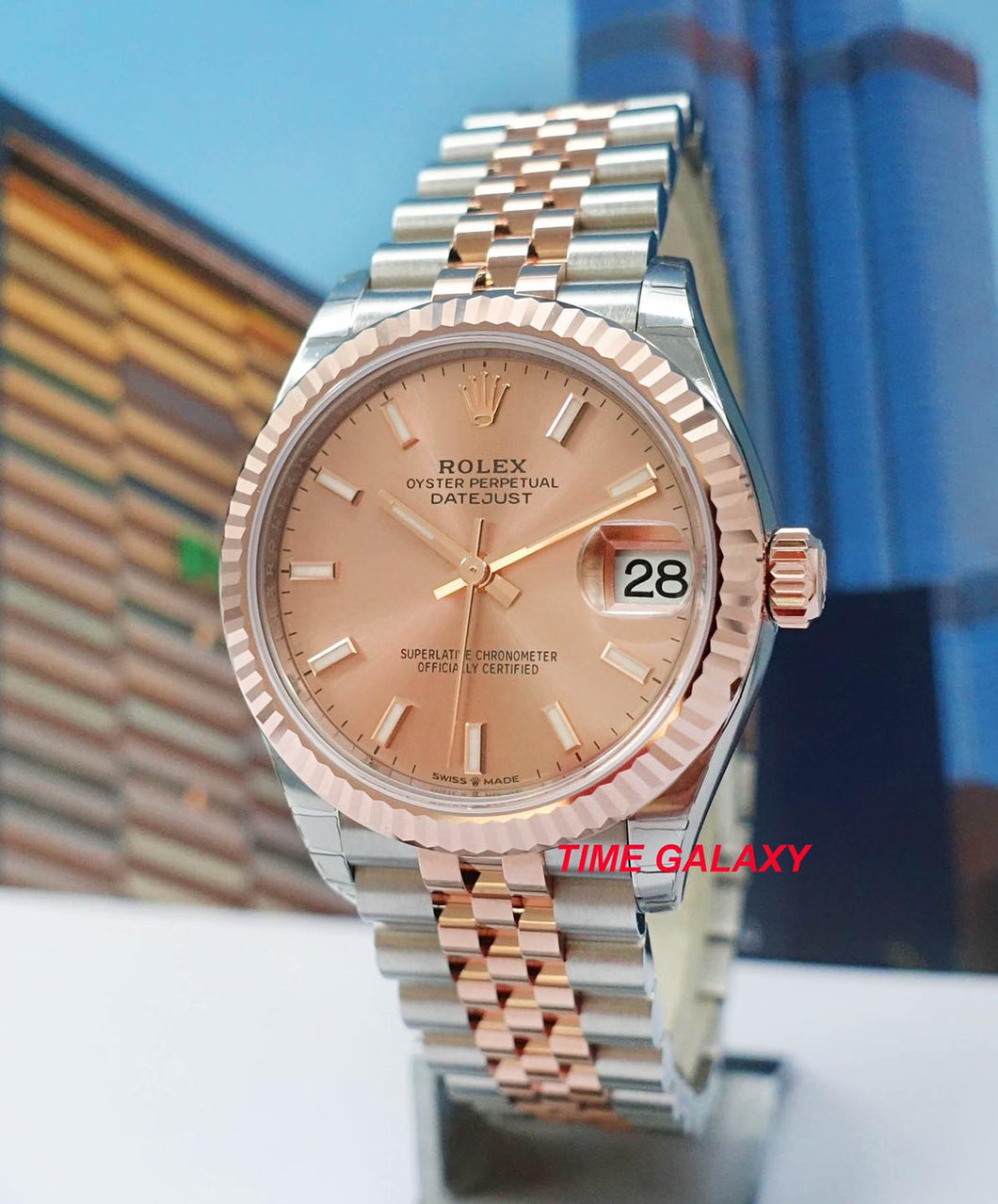 Rolex Datejust 31 Everose Rolesor Rose Gold Fluted Jubilee 278271-0010