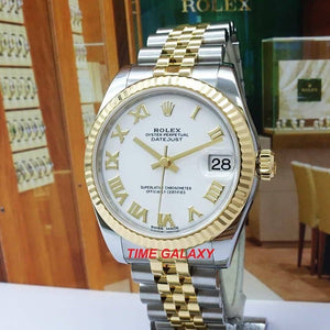 Pre-Owned 100% Rolex Datejust Rolesor Yellow Gold Automatic Watch
