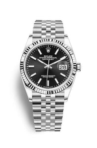 Authentic Rolex Datejust 36 Stainless Steel Fluted Black Jubilee 126234-0015 Watch