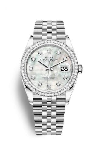 Authentic Rolex Datejust 36 Stainless Steel Diamond MOP-Diamond Jubilee 126284rbr-0011 Watch