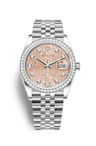 Authentic Rolex Datejust 36 Stainless Steel Diamond Pink Jubilee Jubilee 126284rbr-0015 Watch