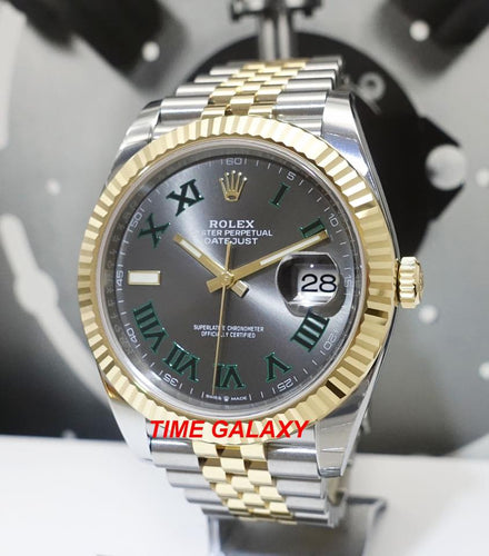 Rolex Datejust 41 Rolesor Yellow Gold Fluted Jubilee Grey Roman 126333-0020