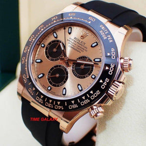 buy sell Rolex Cosmograph Daytona Everose Cerachrom Pink Oysterflex 116515LN at Time Galaxy Watch