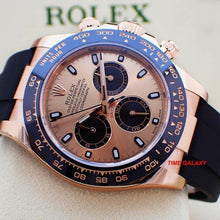 Load image into Gallery viewer, Rolex 116515ln-0018 made of rose gold, sapphire glass, pink dial, stick dot indexes, stick hands