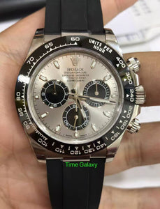 buy sell Rolex Cosmograph Daytona White Gold Cerachrom Silver Oysterflex 1116519ln at Time Galaxy Watch