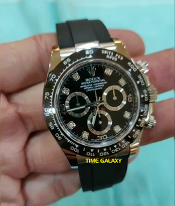 Rolex Cosmograph Daytona White Gold Cerachrom Black Diamond Oysterflex 116519LN-0022 Watch