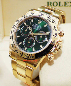 Buy Sell Trade Rolex Daytona Yellow Gold Green 116508 at Time Galaxy