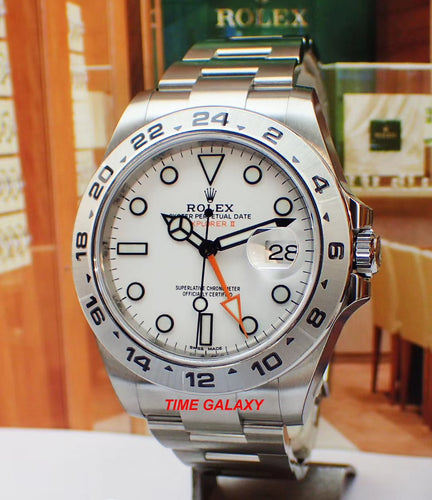 Rolex Explorer II Osytersteel White 216570 Watch