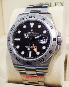 Buy Sell Trade Rolex Explorer II Black 216570 at Time Galaxy Store