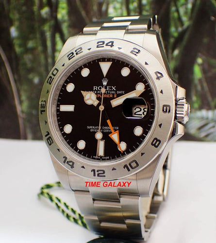 Rolex Explorer II Osytersteel Black 216570 Watch
