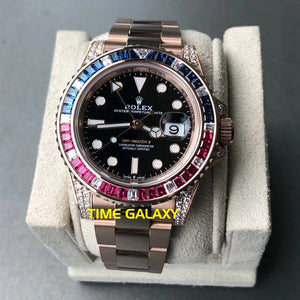 Buy Sell Rolex GMT-Master II Rose Gold Diamond 126755SARU at Time Galaxy Malaysia