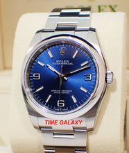 Load image into Gallery viewer, Rolex Oyster Perpetual 36 Blue Explorer 116000-0002 watch