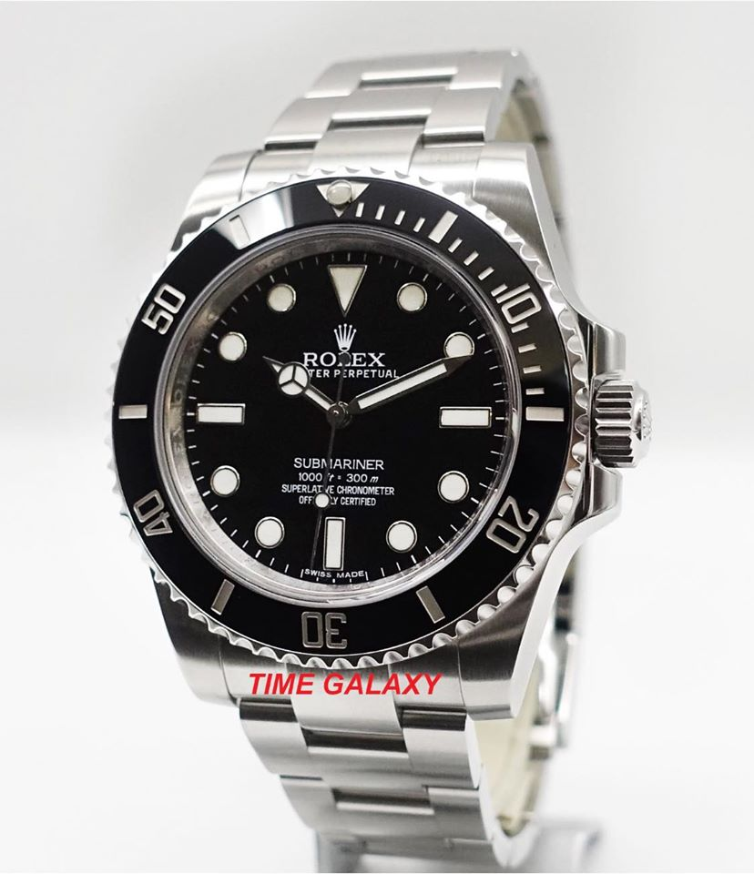 Buy Sell Pre-owned Used Rolex Submariner Black No Date 114060M Automatic Watch at Time Galaxy Malaysia