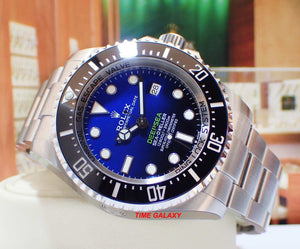 Rolex 126660-0002 feature D-Blue dial, a two colour gradient dial from brilliant blue to bottomless black