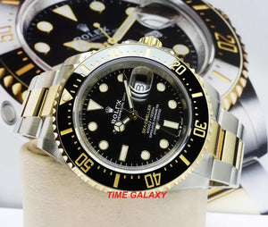 Rolex 126603-0001 made of rolesor yellow gold, black dial