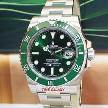 Load image into Gallery viewer, Rolex Submariner Date Oystersteel Cerachrom Green Hulk 116610LV-0002 Watch