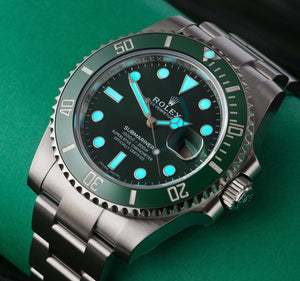 Buy Rolex Submariner Date Stainless Steel Green Cerachom Hulk 116610lv-0002 at Time Galaxy Watch