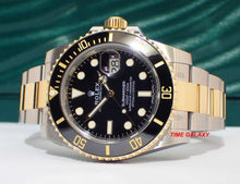 Load image into Gallery viewer, Rolex 116613LN made of sapphire glass, rolesor, black dial, mercedes hands