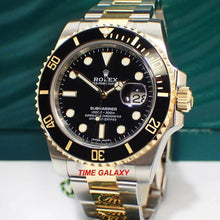 Load image into Gallery viewer, Rolex Submariner Date Rolesor Black Cerachram 116613LN-0001 Watch