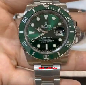 Pre-owned Rolex Submariner LV Hulk 116610LV Watch