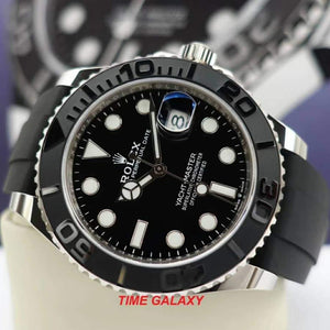 Rolex 226659-0002 features black dial, stick and dot indexes, Mercedes hand