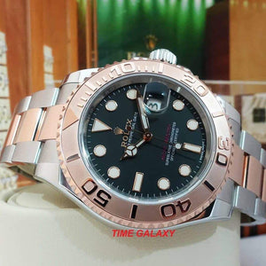 Rolex 116621-0002 made of Rose Gold, stainless steel, black dial, 3135 caliber