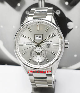 Tag Heuer WAR5011.BA0723 powered by Calibre 8 COSC, features silver colour dial