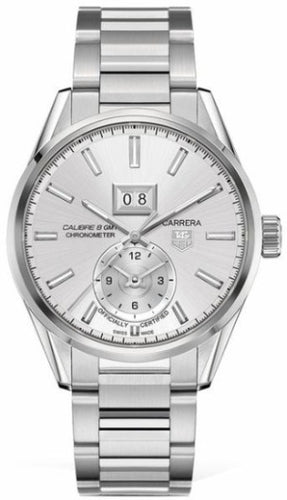 Authentic Tag Heuer Carrera GMT Calibre 8 Silver Bracelet WAR5011.BA0723 watch