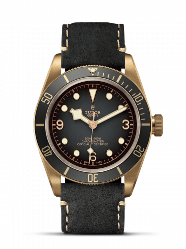 Tudor Herritage Black Bay Bronze Slate Leather 79250ba-0001 wrist watch