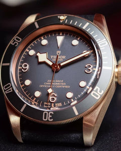 Tudor herritage black bay 79250ba, stainless steel bronze and sapphire glass material