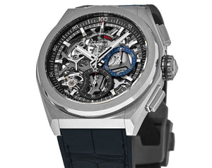 Zenith 95.9000.9004/78.R582 features skeleton dial, made of titanium