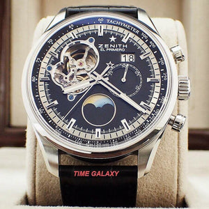 Buy Pre-Owned Zenith El-Primero Chronomaster Grande Date Black 03.2160.4047 at Time Galaxy Online Store