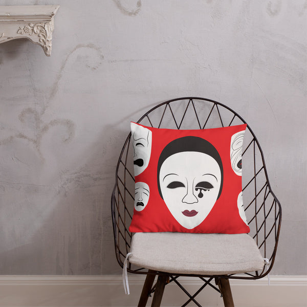 "Actor Parlor ""Masks"" Premium Pillow"