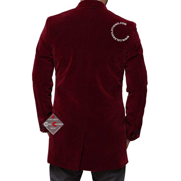 12th Doctor Who Peter Capaldi Maroon Coat