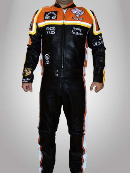 Harley Davidson and Marlboro Man Leather Suit