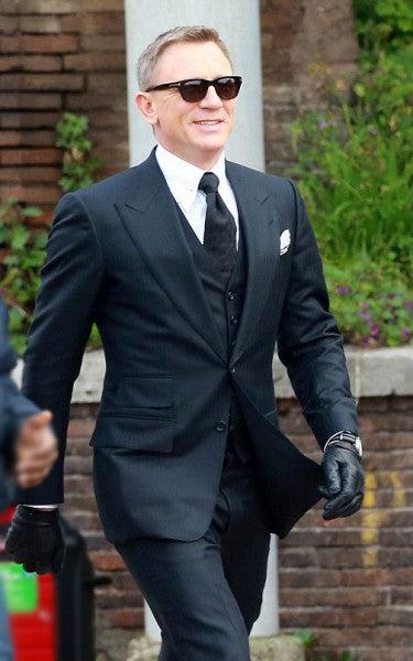 James Bond Spectre Navy Blue 3 Piece Suit