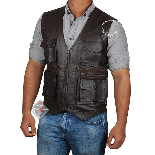 Chris Pratt Jurassic World Leather Vest